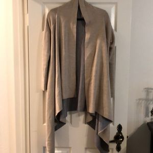 Long sleeve drape cardigan